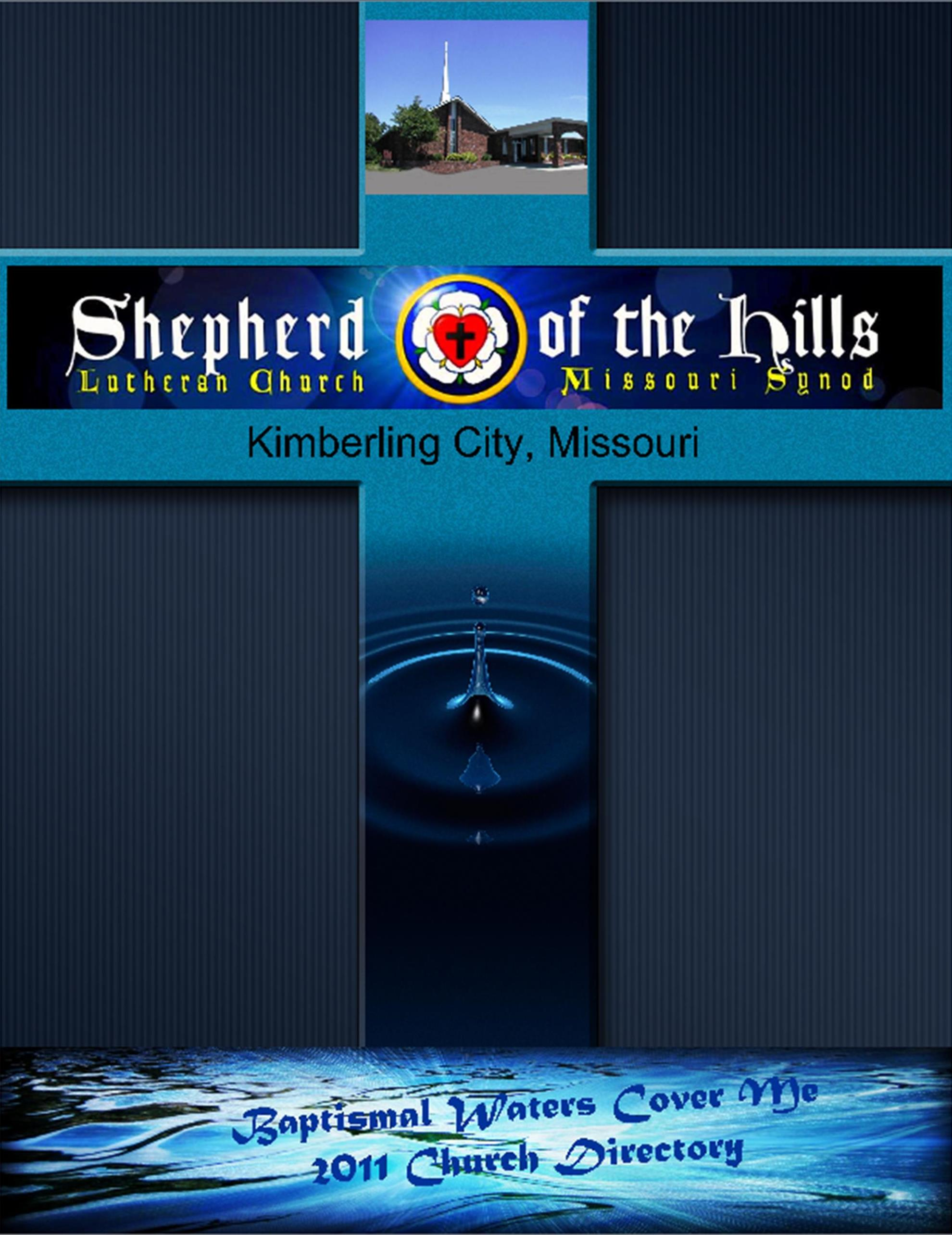 church directory cover shepherd of the hills