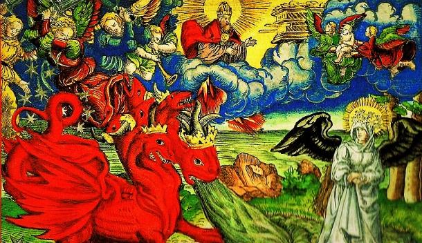 Dragon And Woman In Revelation In Luther Bibel 610352 Shepherd