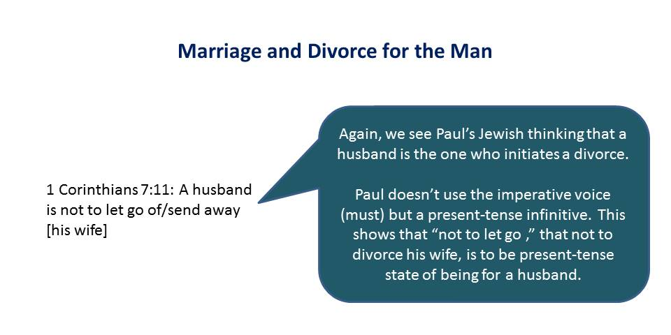Lesson 9, Marriage and Divorce for the Man