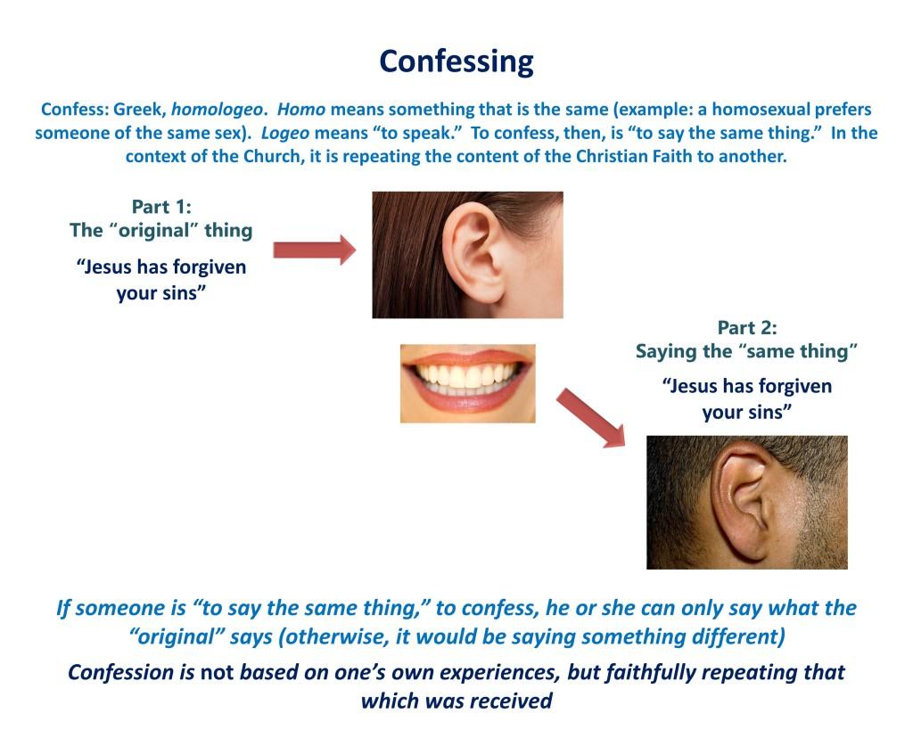 Lesson 12, Confessing