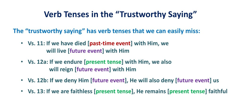 Lesson 4, Verb Tenses in the Trustworthy Saying
