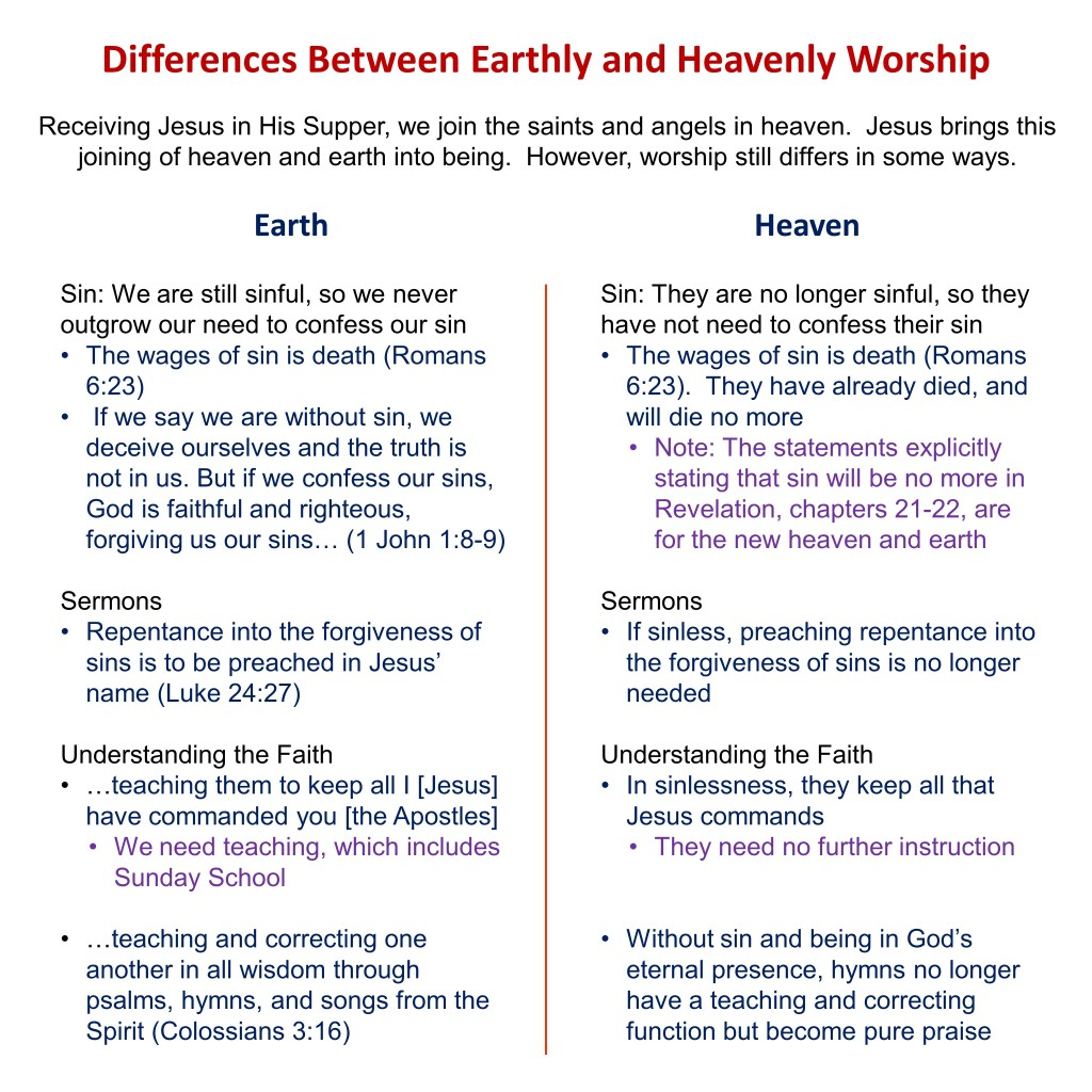 3, Differences Between Earthly and Heavenly Worship