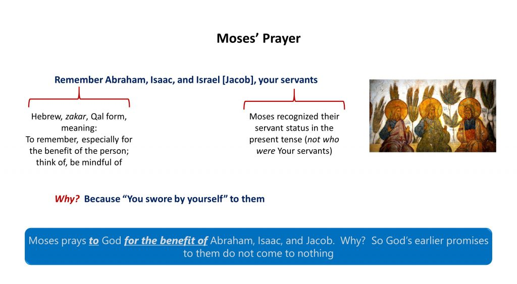 Lesson 11, Moses Prayer for Abraham, Isaac and Jacob