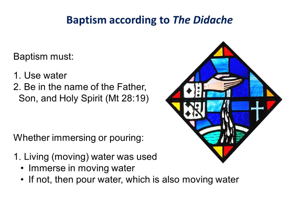 Baptism based on the Didache