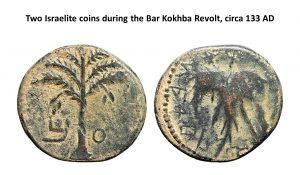 13, Two Israelite Coins during the Bar Kohkba Revolt