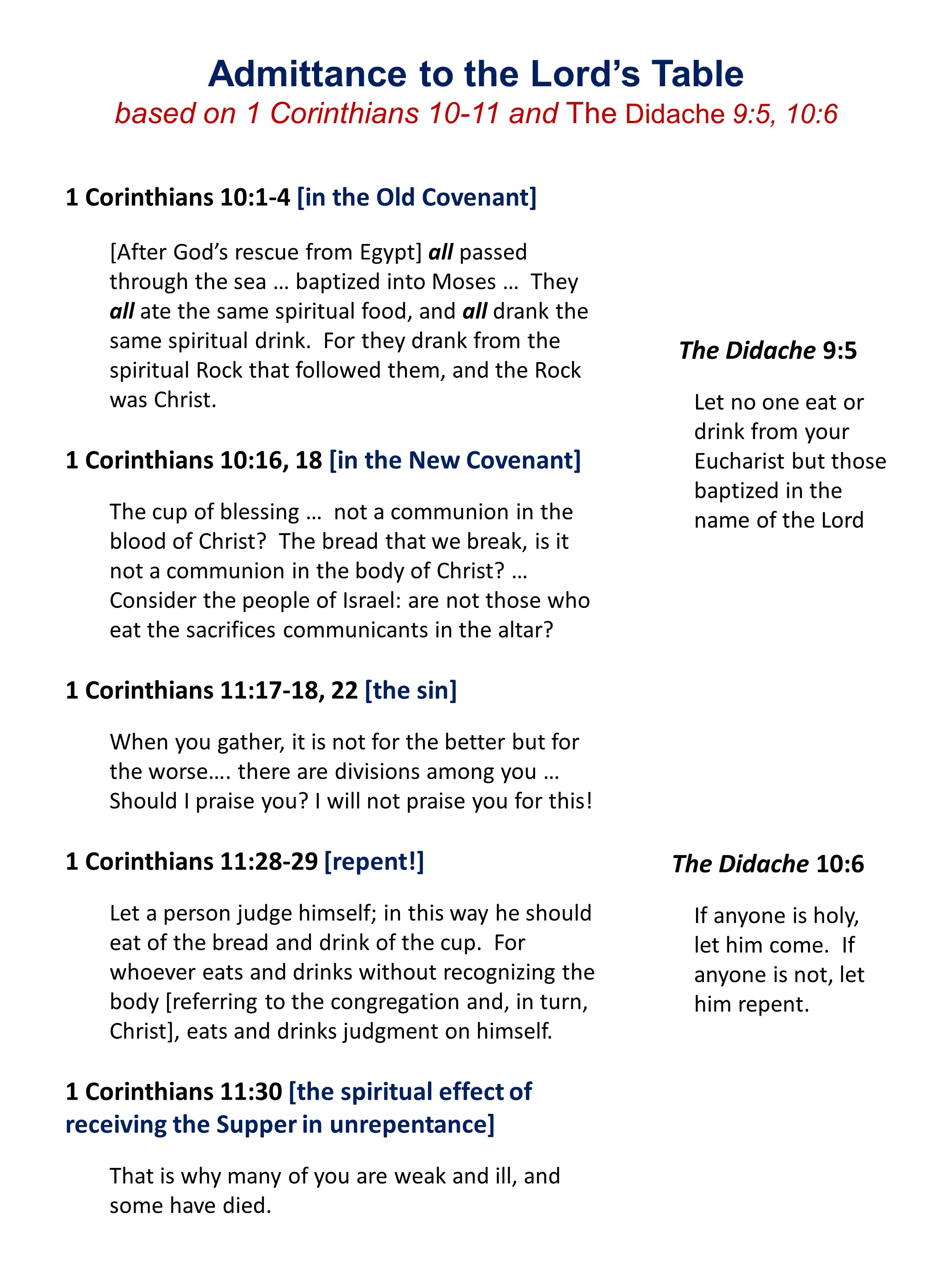 Church History, Lesson 5: The Didache, Pt  2 — Shepherd of