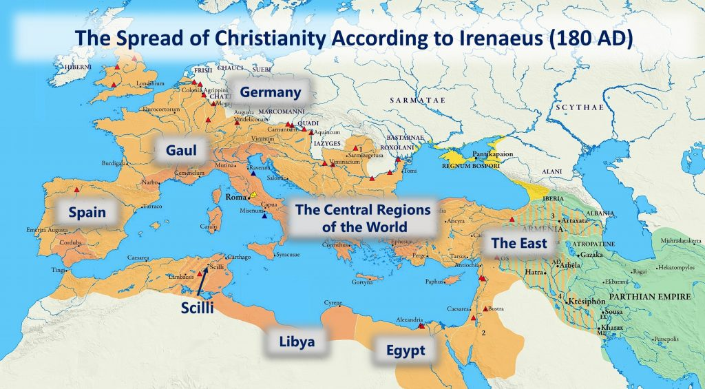11, The Spread of Christianity, circa 180 AD